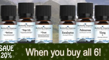 august 2020 Specials from Butterfly Essential Oils